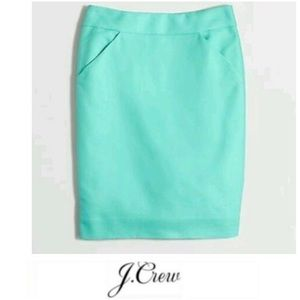 J. Crew Mint Pencil Skirt